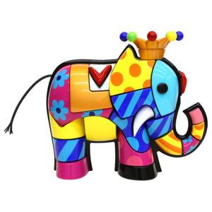 Elephant - scultura di Romero Britto in vendita presso la Galleria Deodato Arte