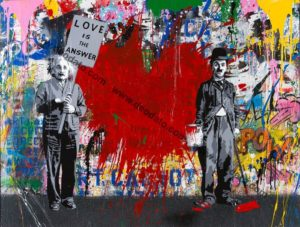 Juxtapose - Opera di Mr. Brainwash in vendita presso la Galleria Deodato Arte