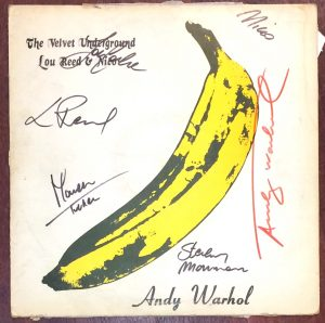 Andy Warhol, Velvet underground, disco signed in red
