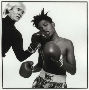 Andy Warhol and Jean-Michel Basquiat, 1985