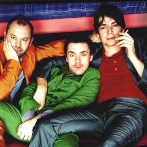 Keith Allen, Alex James e Damien Hirst all'epoca dei Fat Les.