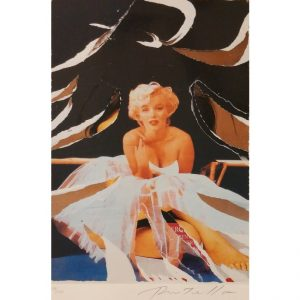 Mimmo Rotella celebra la bellezza di Marilyn con il seridécollage Marilyn White