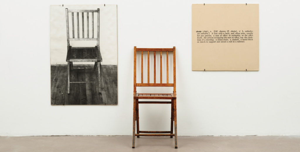 Joseph Kosuth, One and Three Chairs 1965